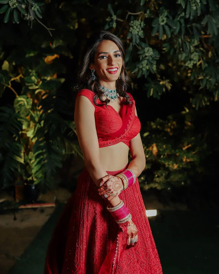 Red Bridal Saree for Reception