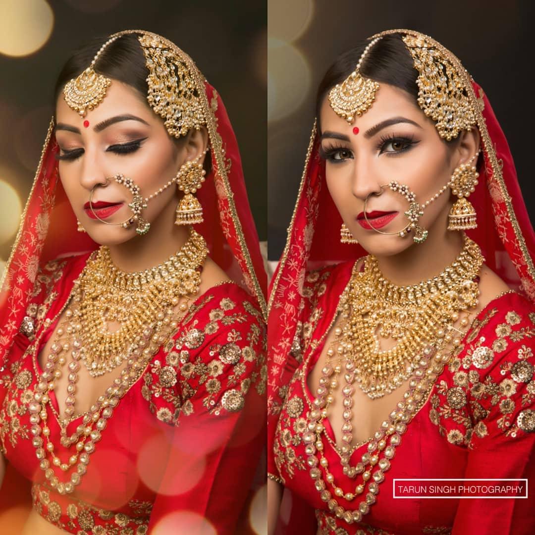 Beautiful Indian Bride hair and makeup