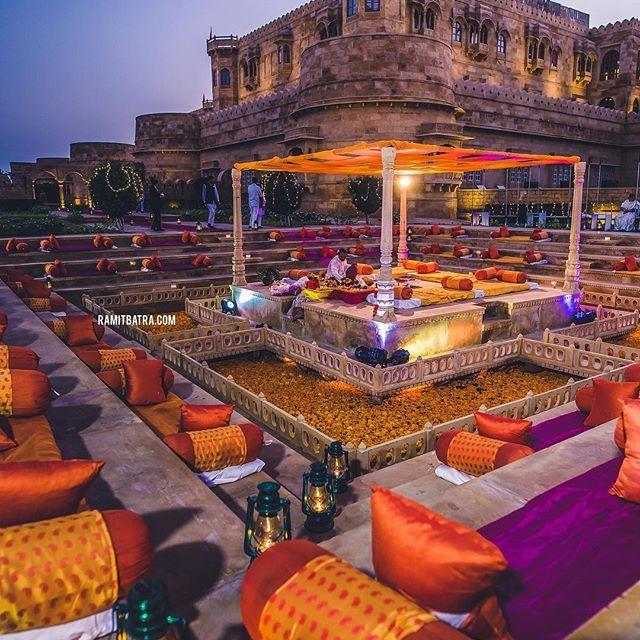 stunning orange and purple wedding decor