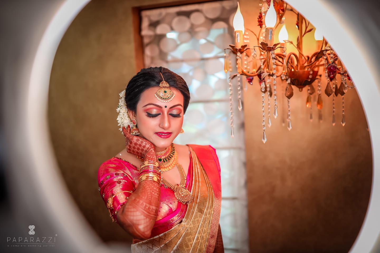 stunning pink bridal makeup