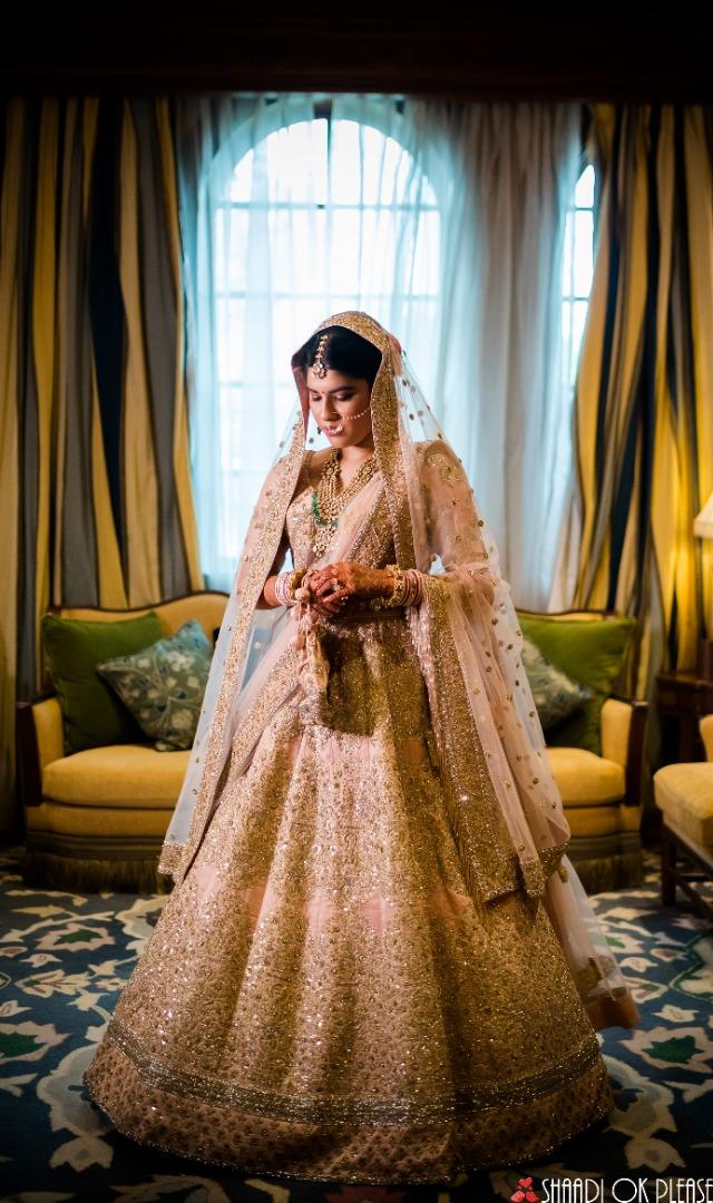 Dazzling Golden Bridal Lehenga