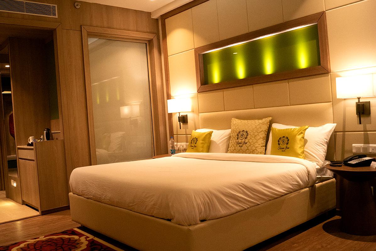 bedroom in 5 star wedding hotel