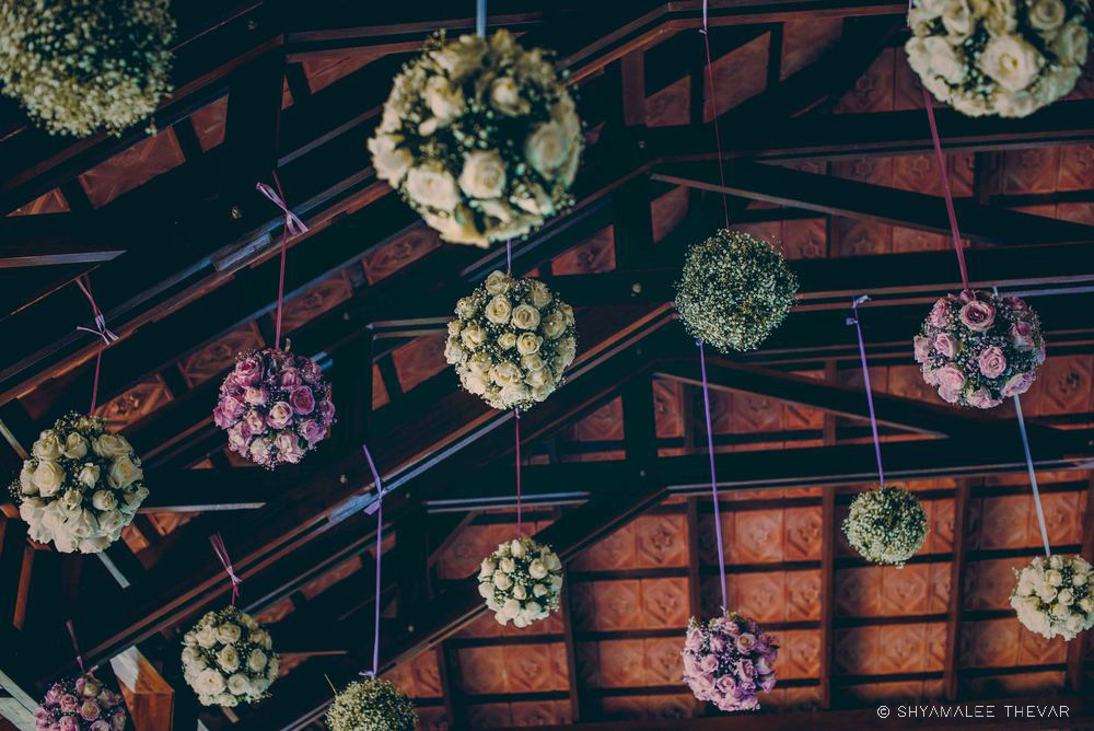Hanging Flower Spheres Ceiling Decor