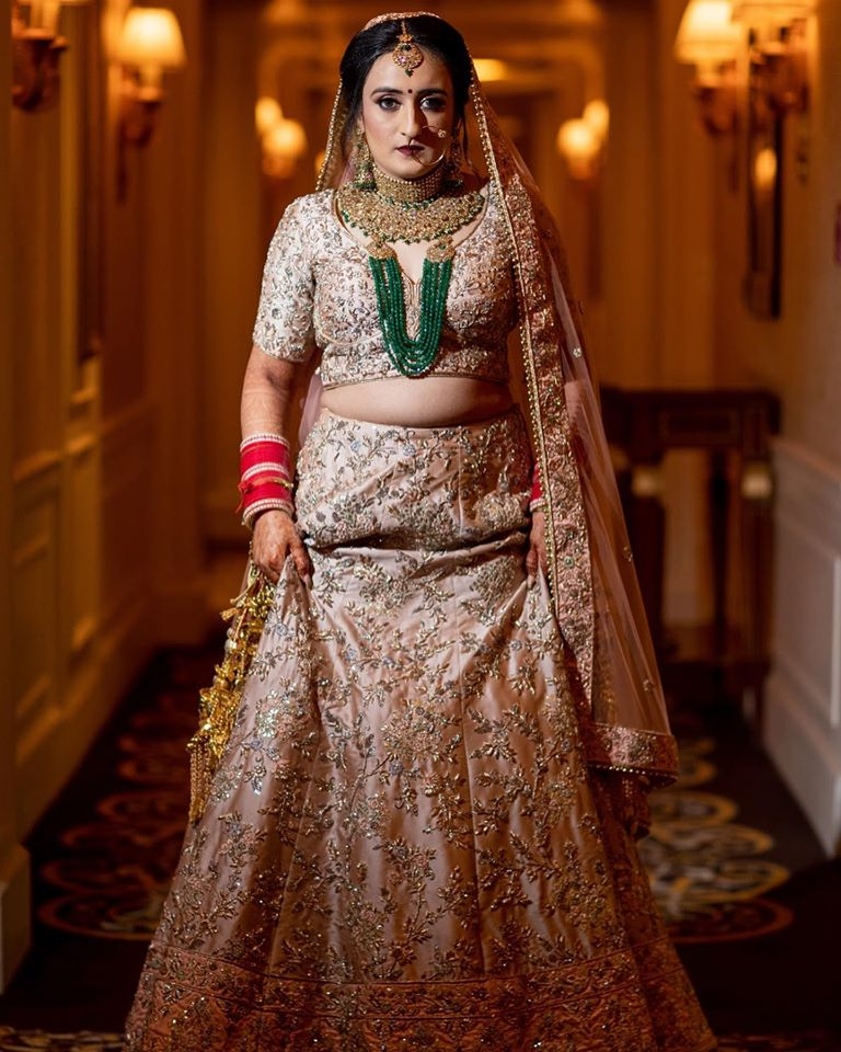 Offbeat white Bridal Lehenga