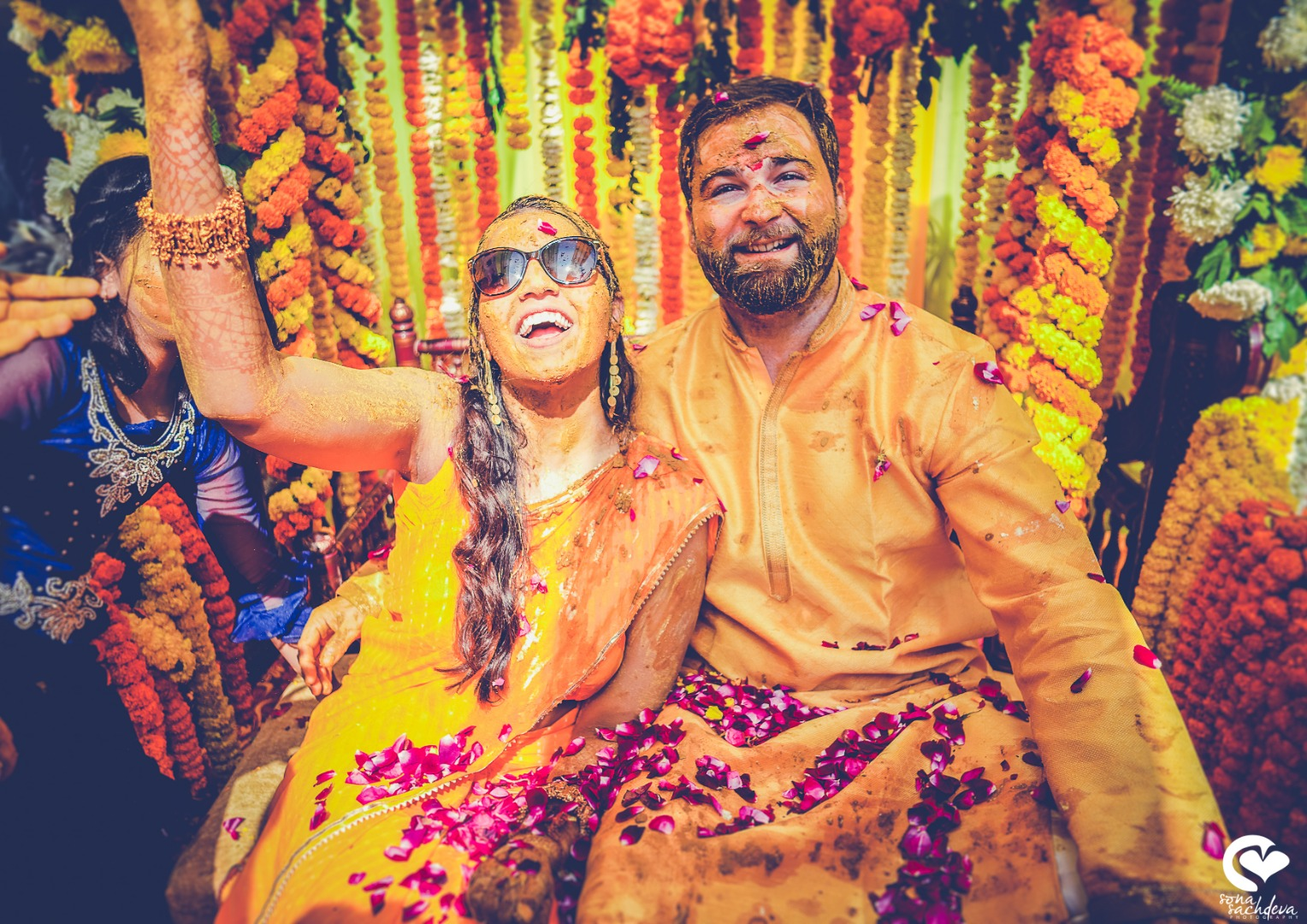 Bride & Groom Fun Haldi Photography Poses
