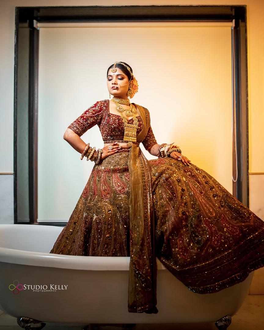bride in payal keyal outfit