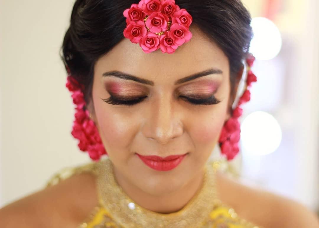 Pink Eye Makeup for Haldi Ceremony