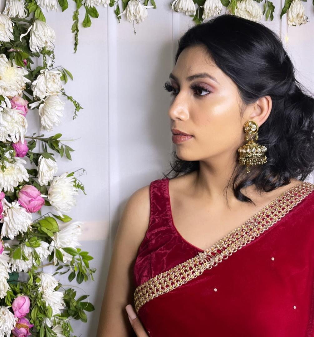 bride in a red saree