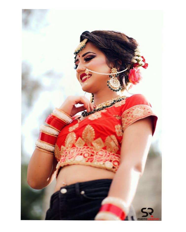 Plain Red Bridal Choora