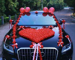 rose car decor
