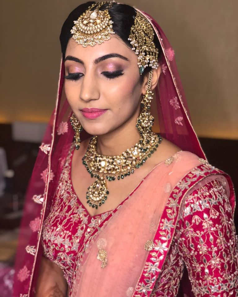 Pink and Silver Bridal Lehenga