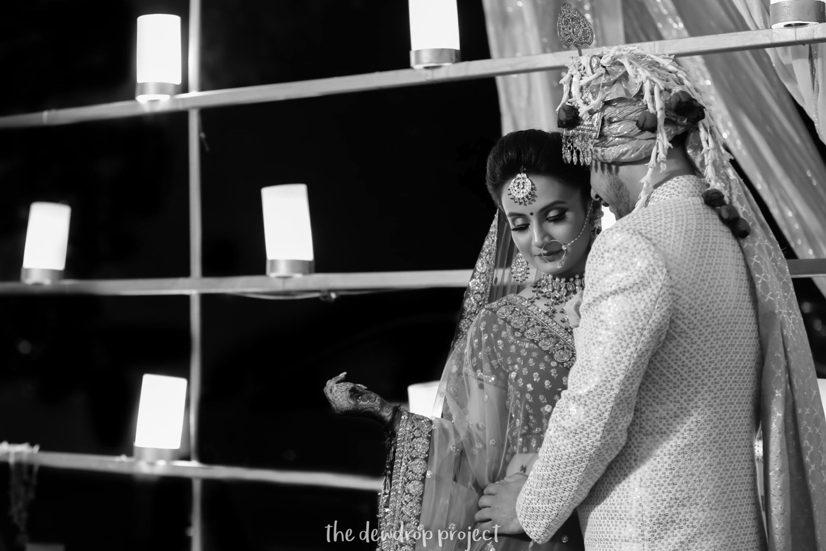 Lovely Indian Wedding Couple Photography