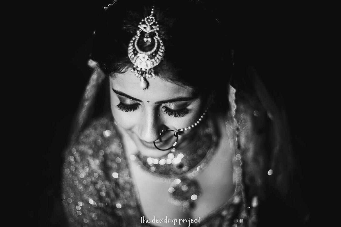 Black and White Indian Bridal Photos
