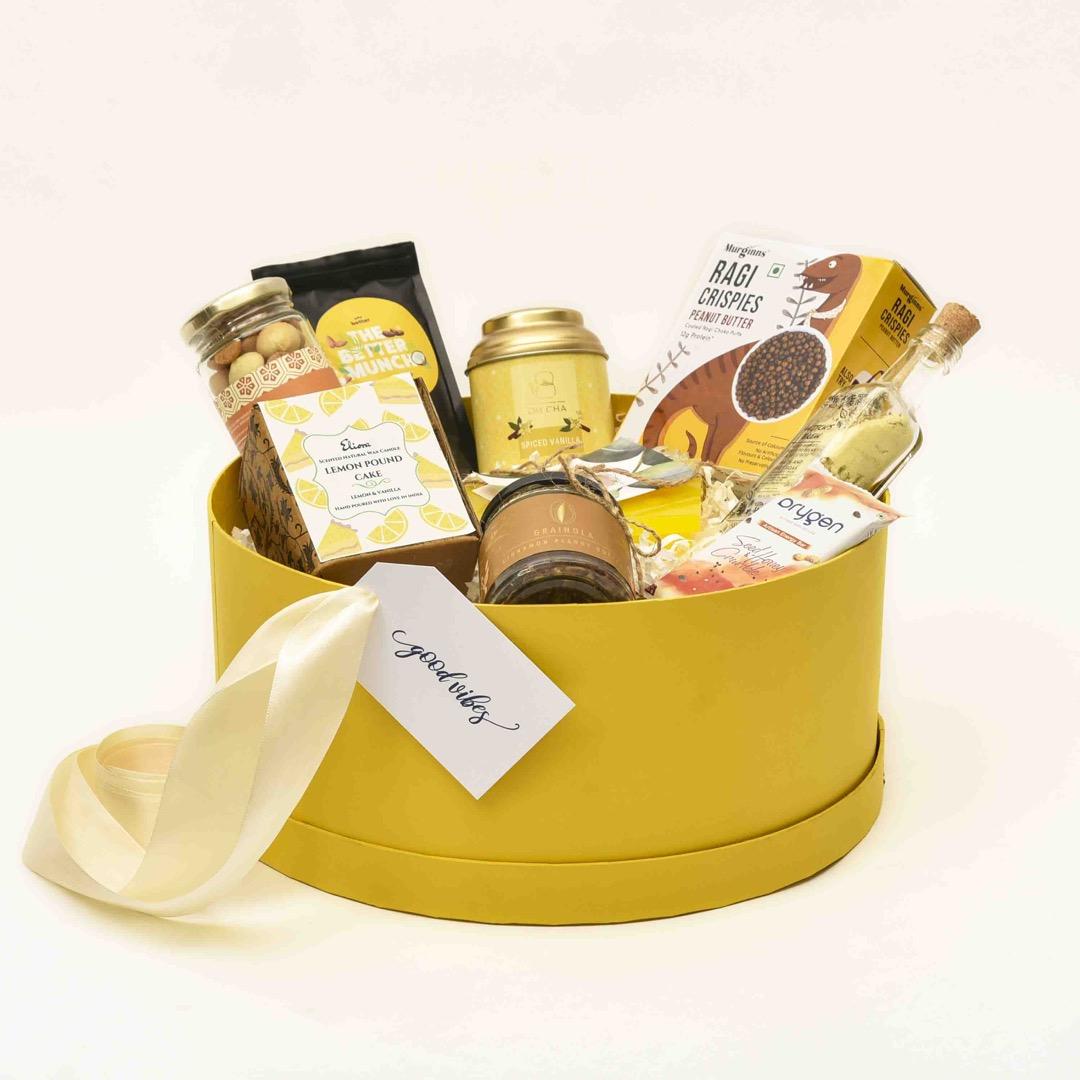 edible gift box in yellow
