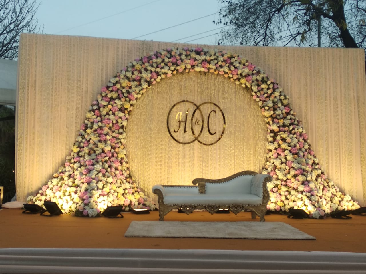 beautiful pastel seating décor