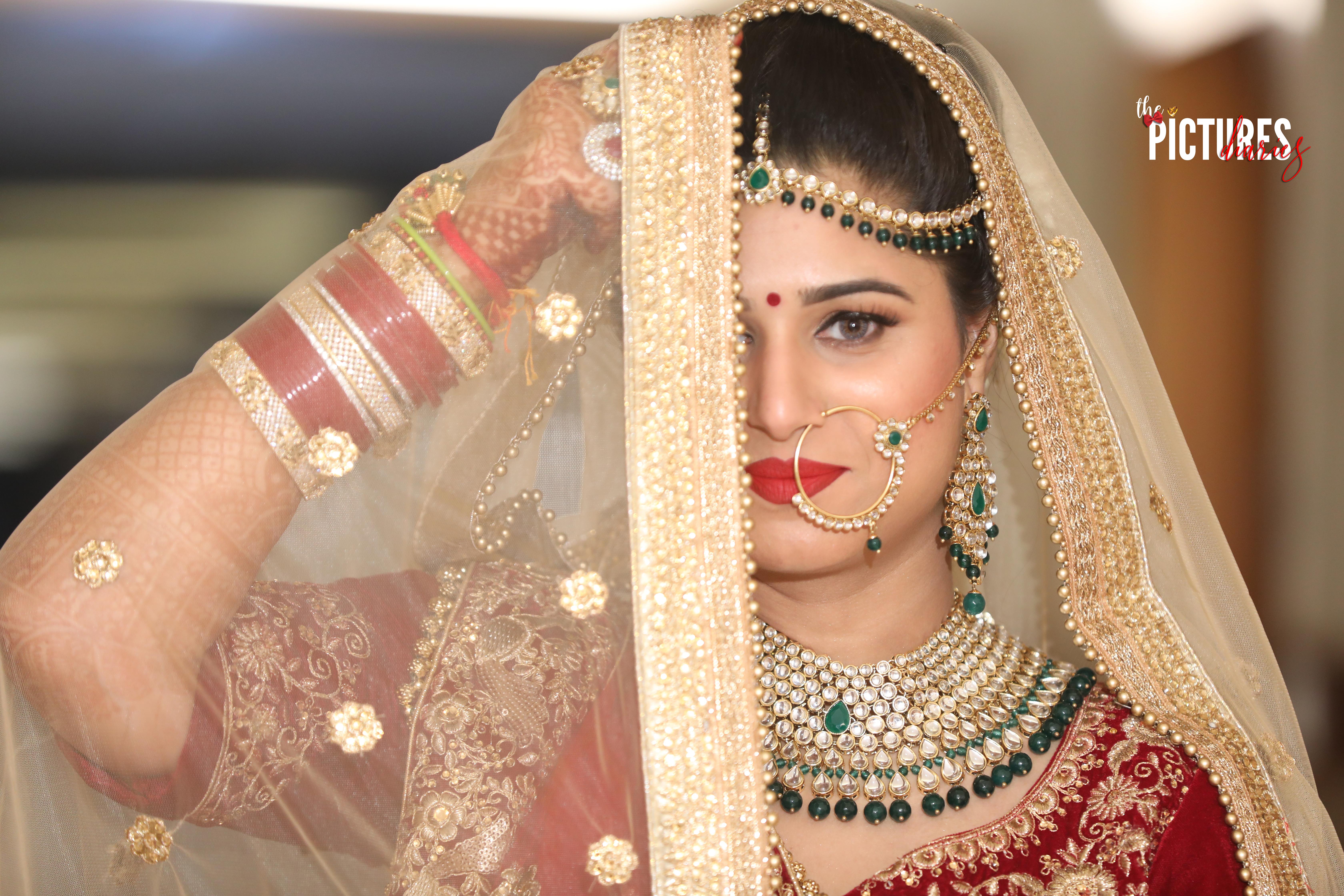 Stunning Indian Bride in Veil