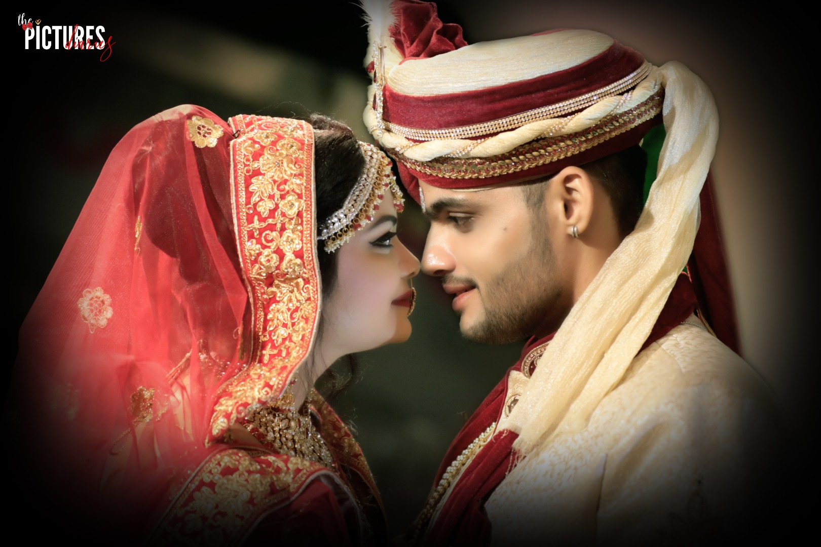 Beautiful Indian Wedding Couple Portrait