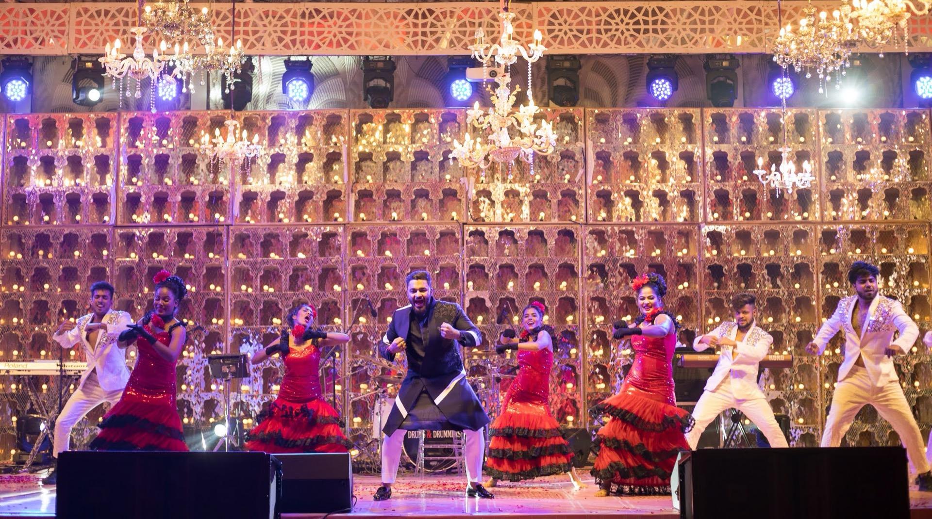 Grand Sangeet Ceremony Stage Decor