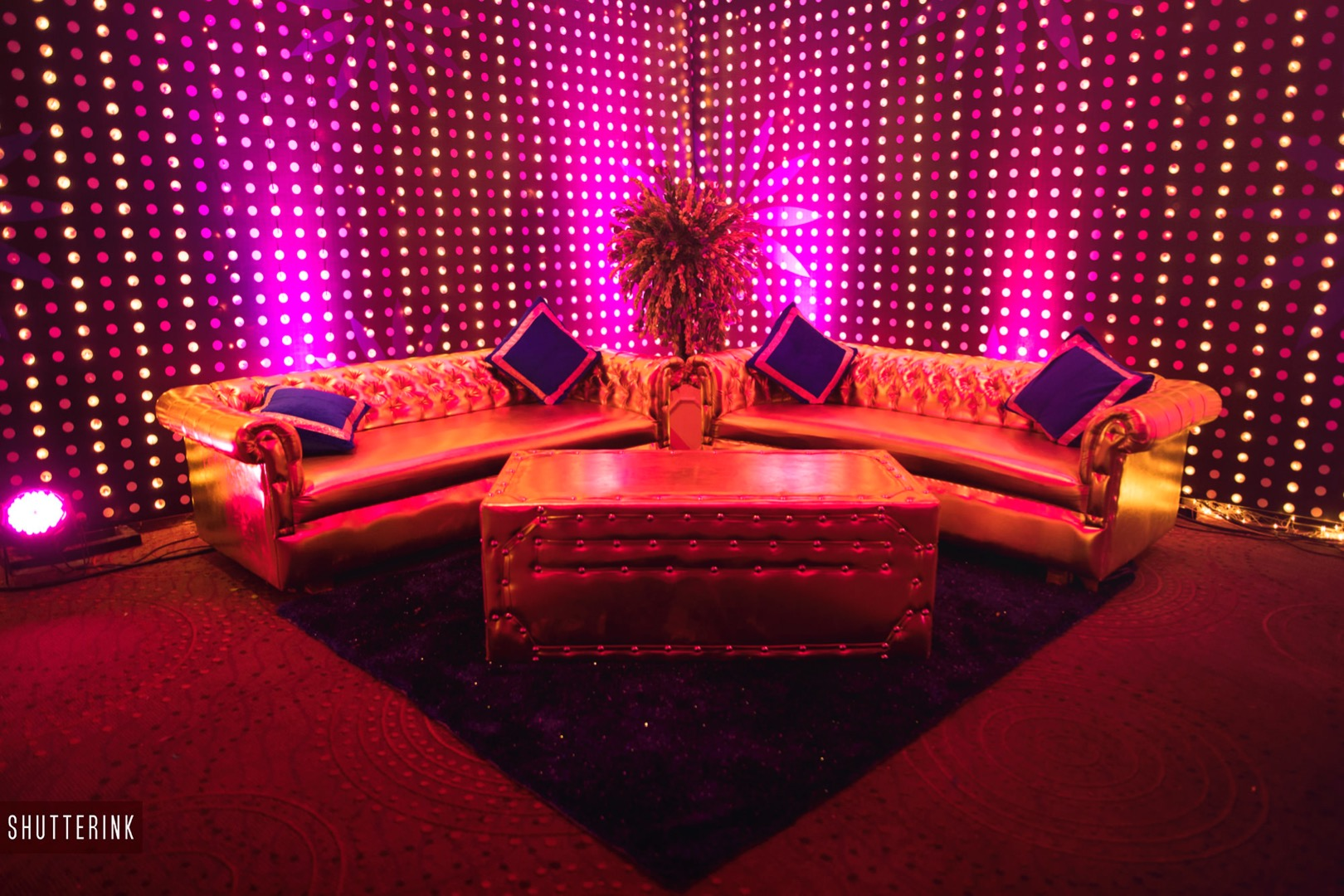 LED Lit Indoor Seating Decor