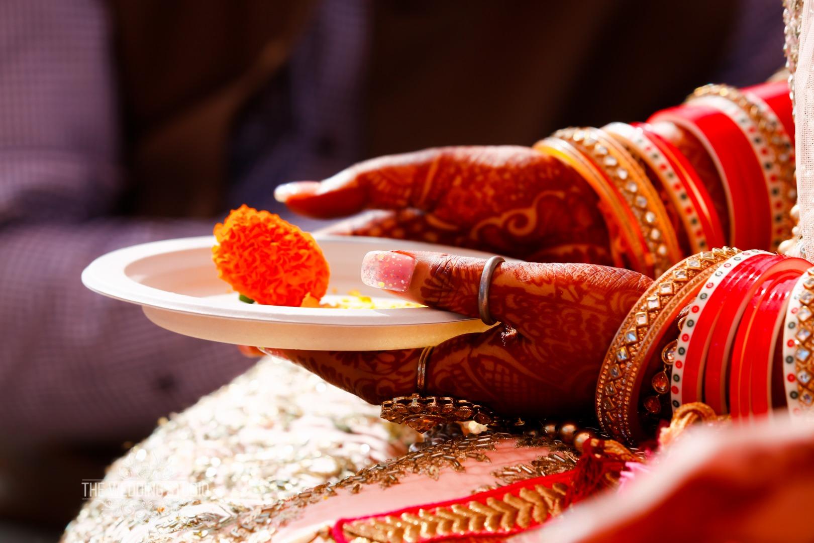 Indian Bride Hands Close Up