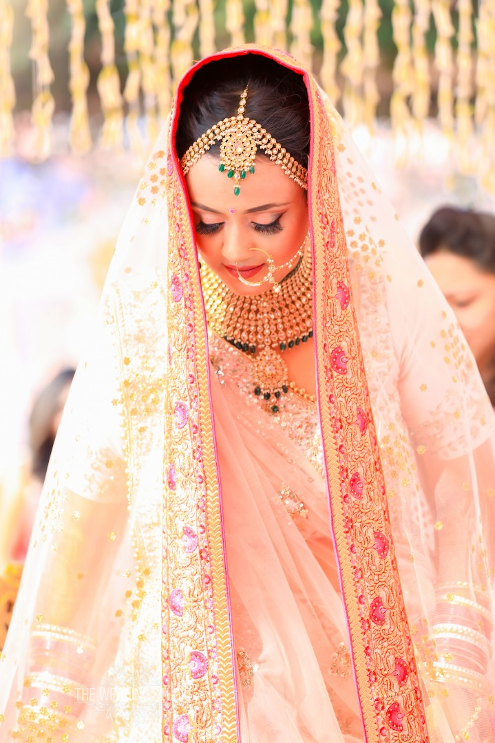 Beautiful Blush Pink Bridal Lehenga