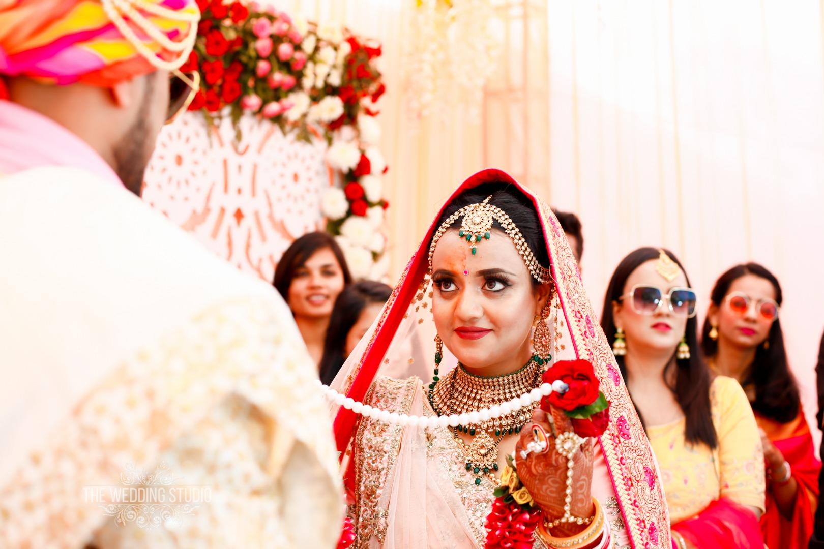 Varmala Ceremony Bridal Portrait