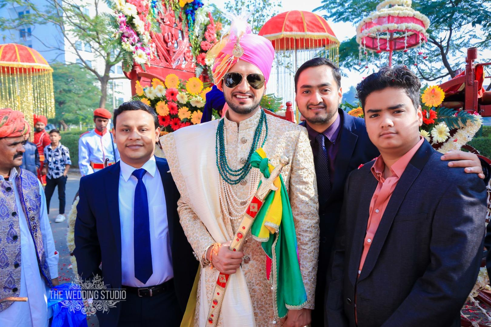Indian Groom shots with Groomsmen