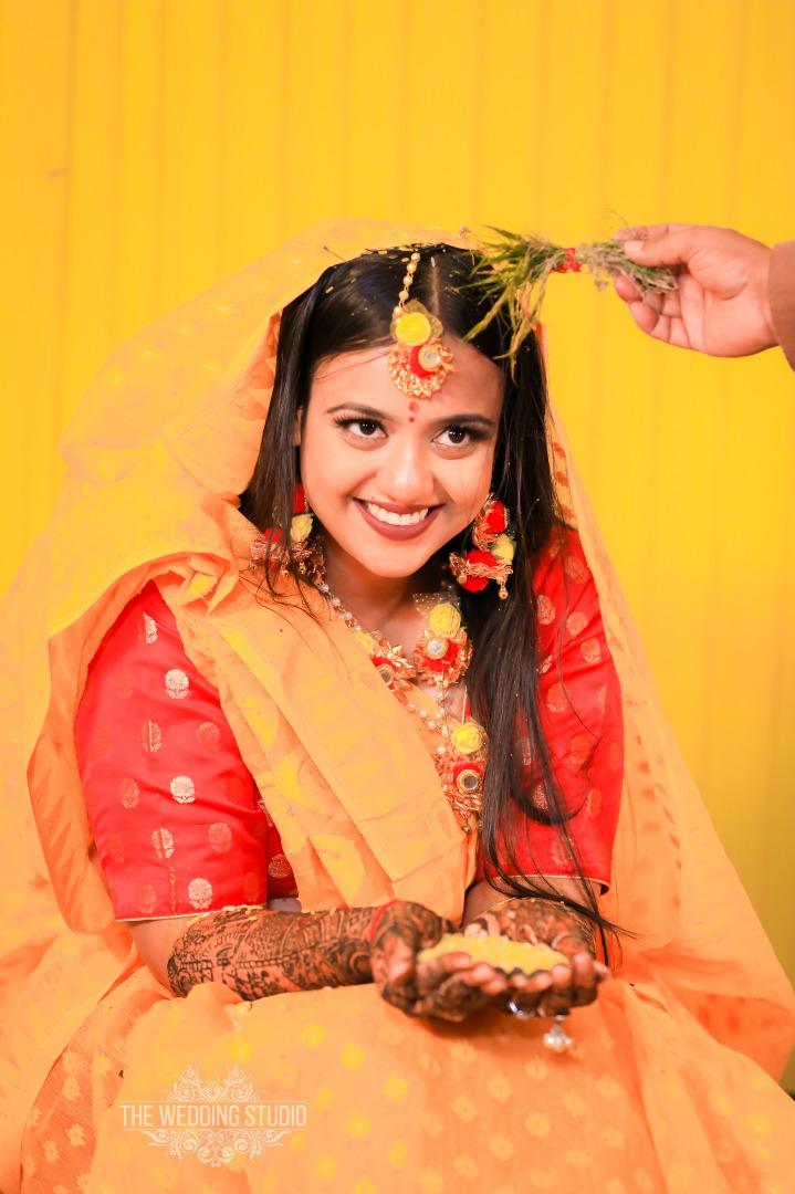 Traditional Haldi Ceremony Look for Bride