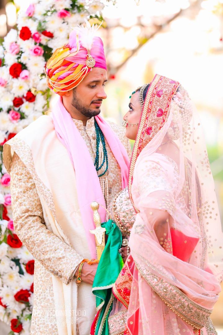 Indian Wedding Couple Portraits