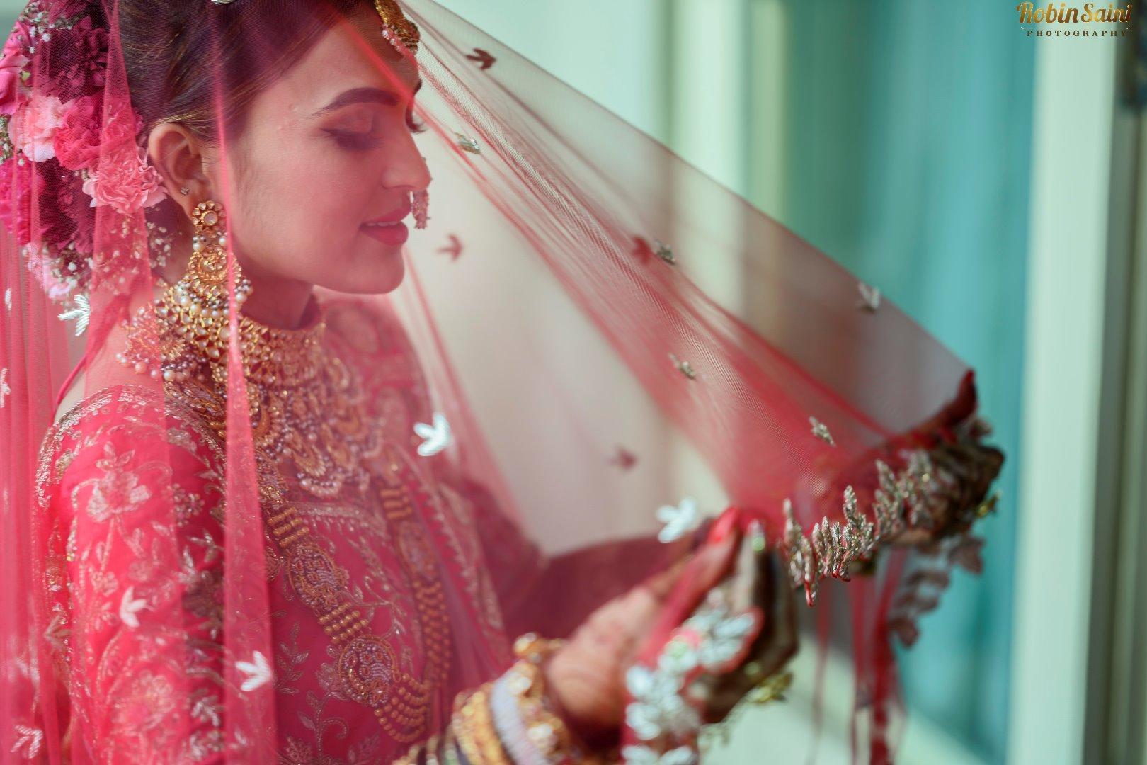Bridal Portrait Picture in Ghungat