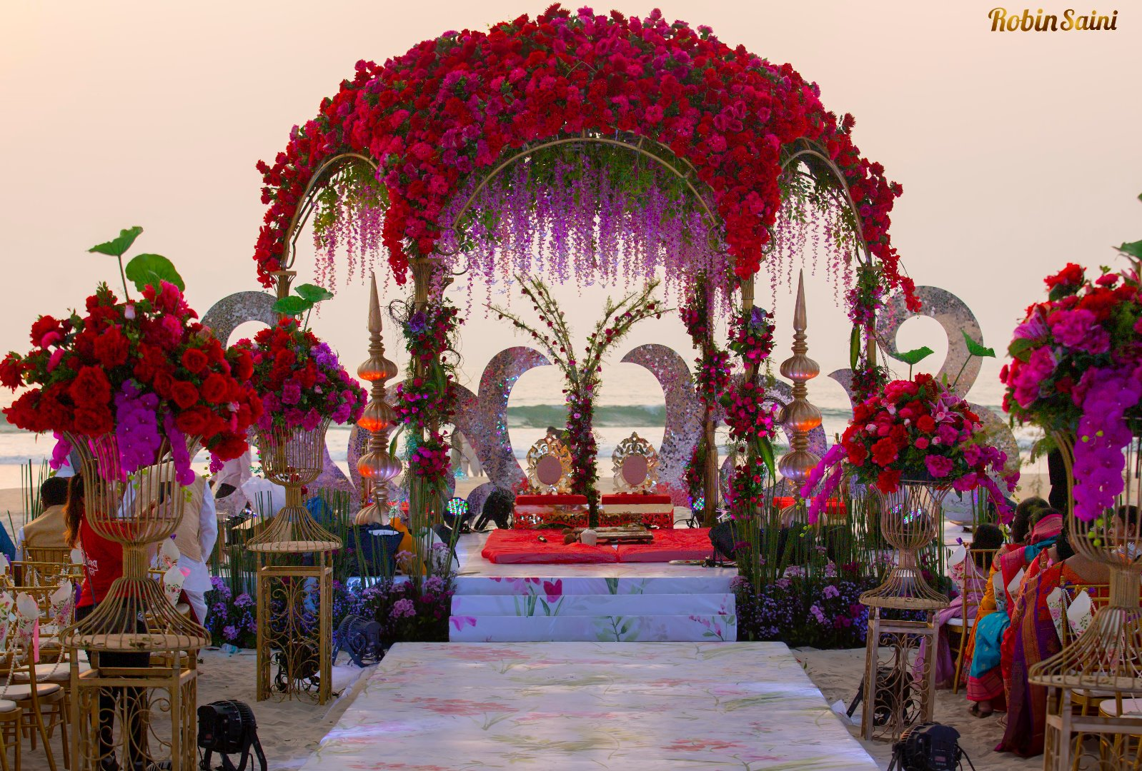 Dreamy Floral Wedding Mandap