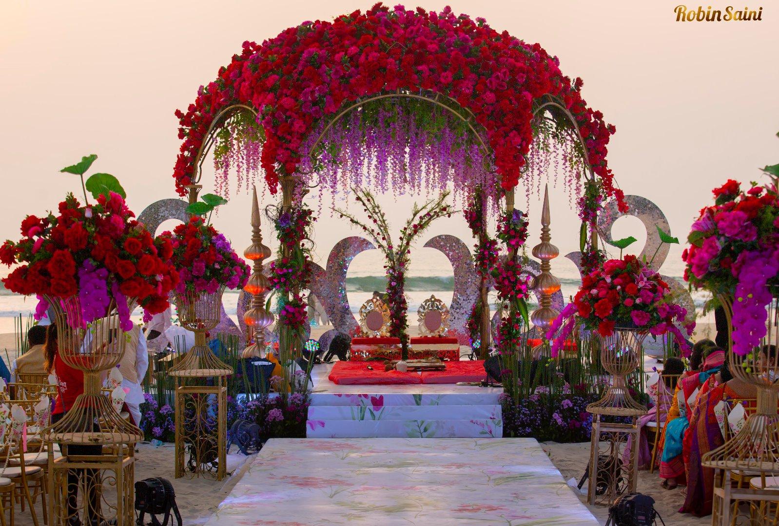 Dreamy Floral Wedding Mandap