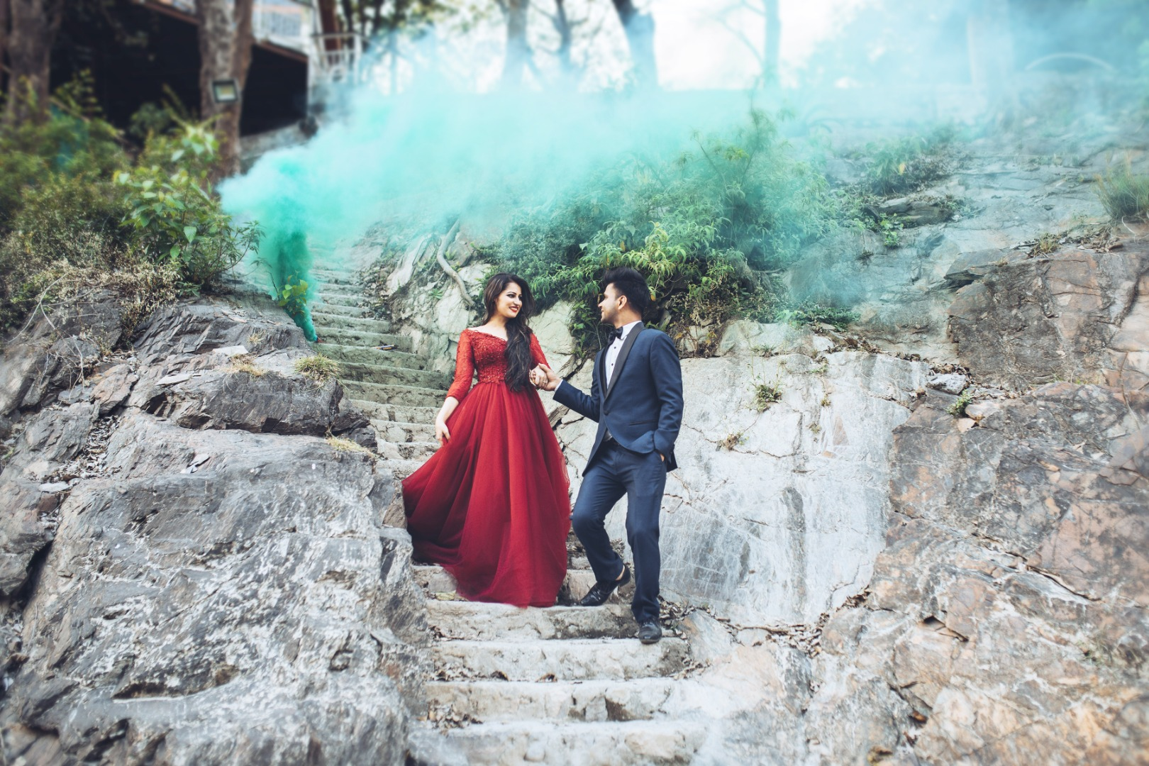 Pre Wedding Shoot with Smoke Bombs