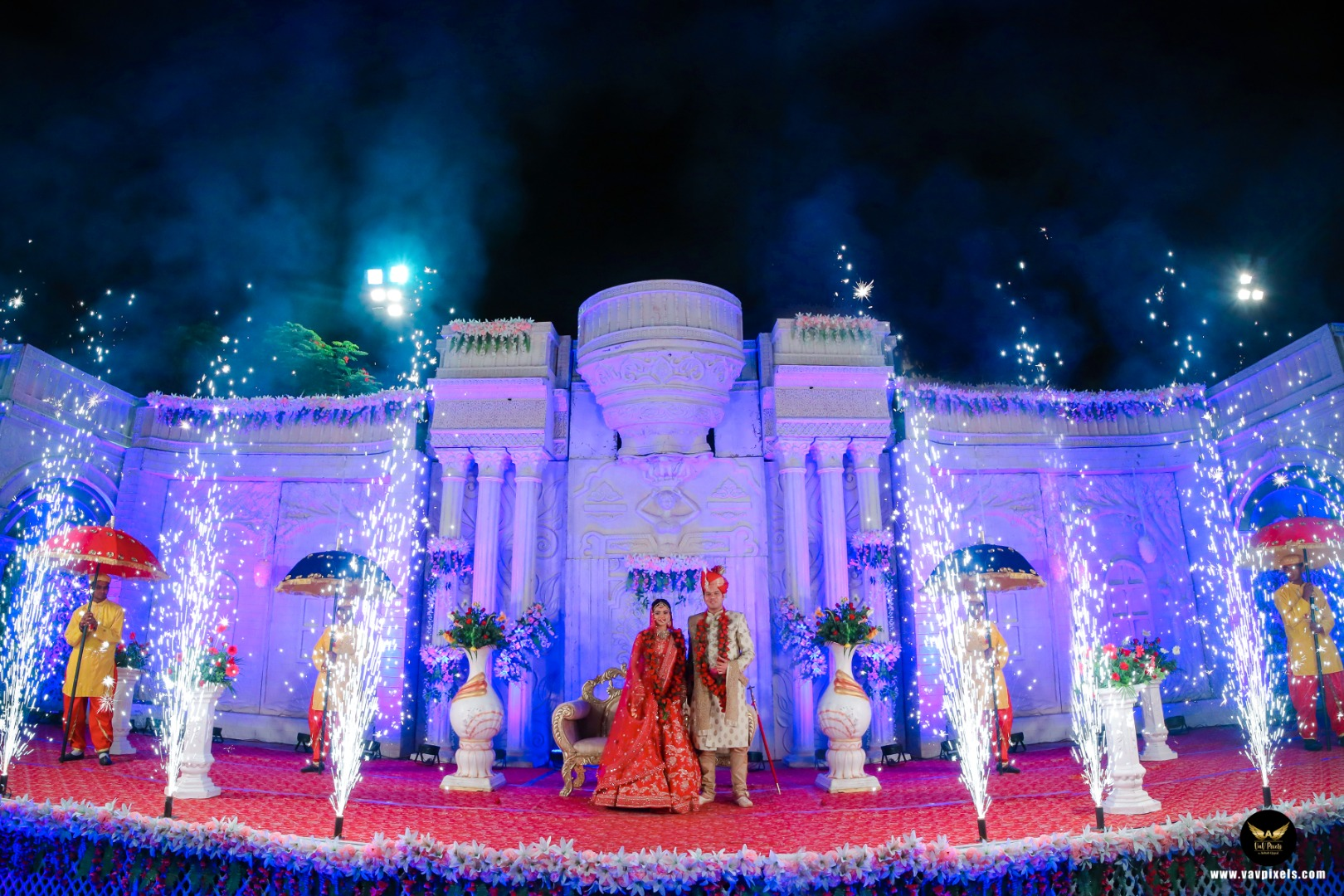 Stage Fireworks in Weddings