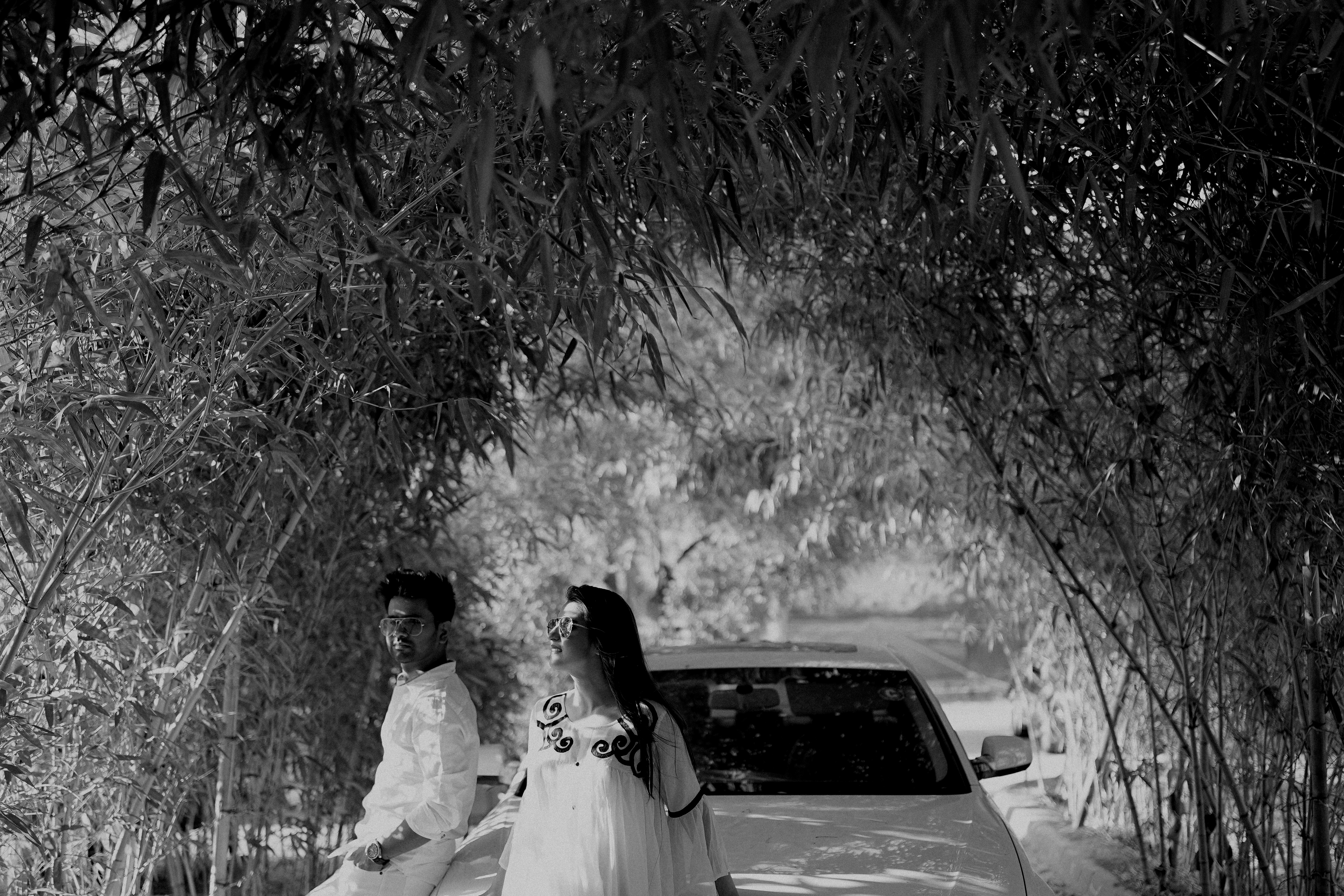 Black and White Pre Wedding Shoot