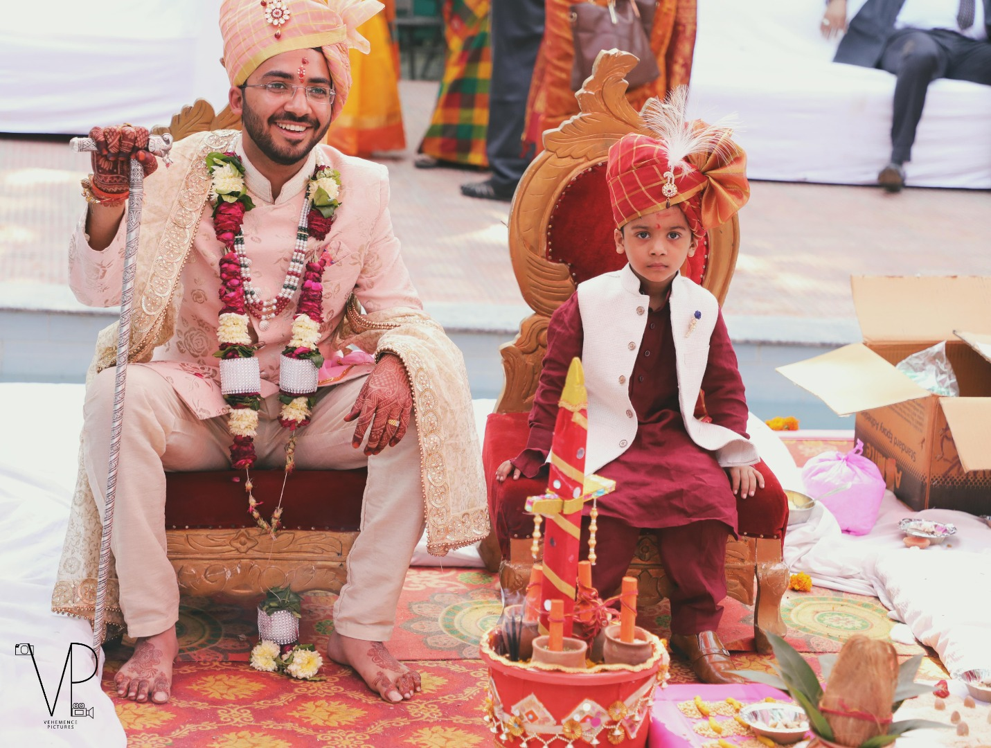 Groom with younger brother