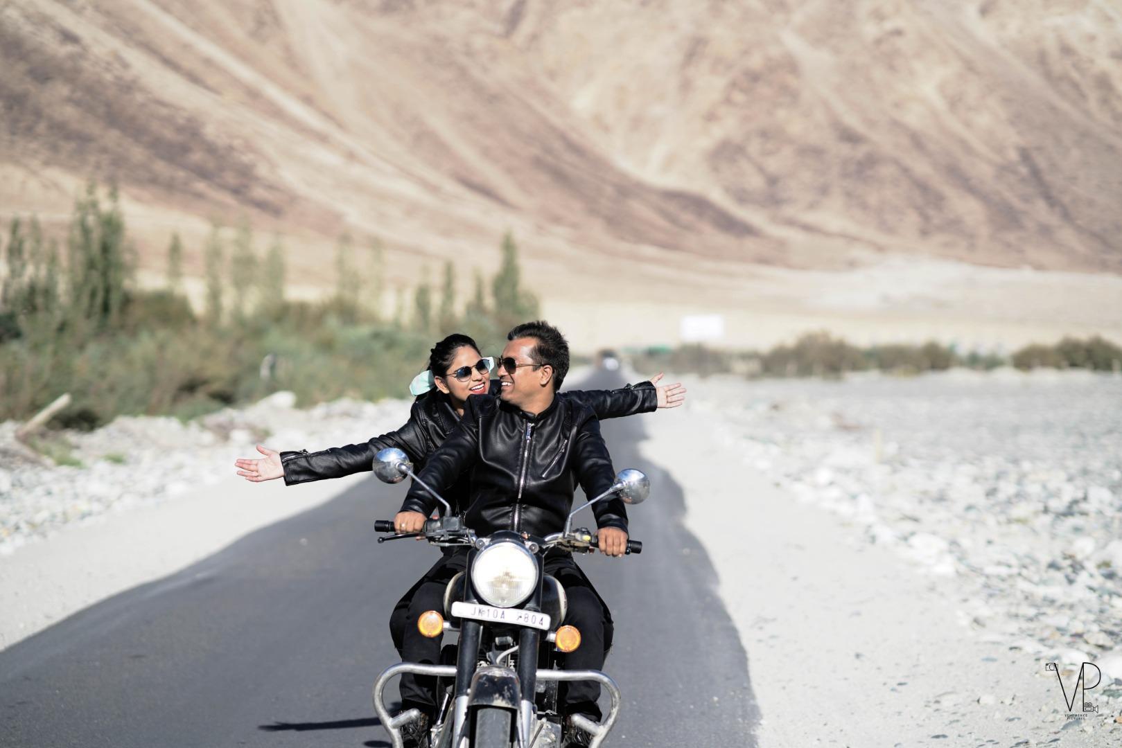 Pre Wedding Bike Photoshoot