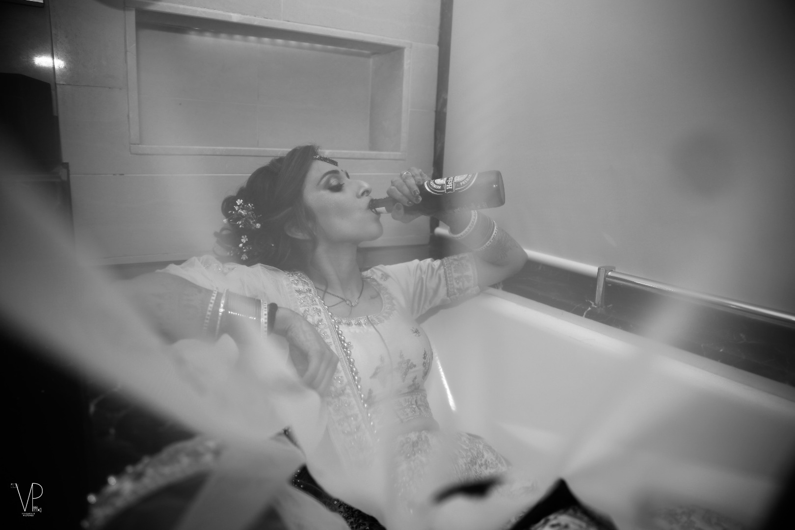 Indian Bridal Bathtub Photoshoot