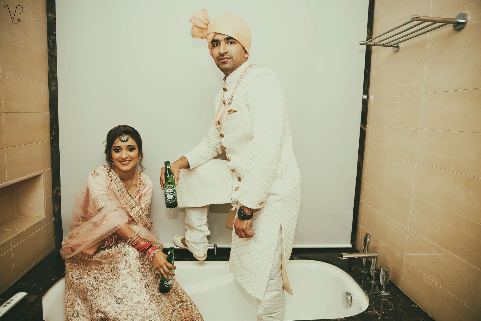 Cool Wedding Couple Photoshoot