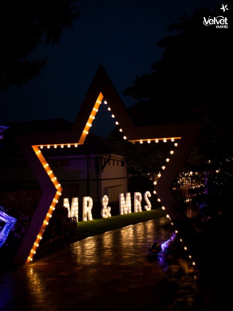 Star Shaped LED Lighted Wedding Entrance Decor