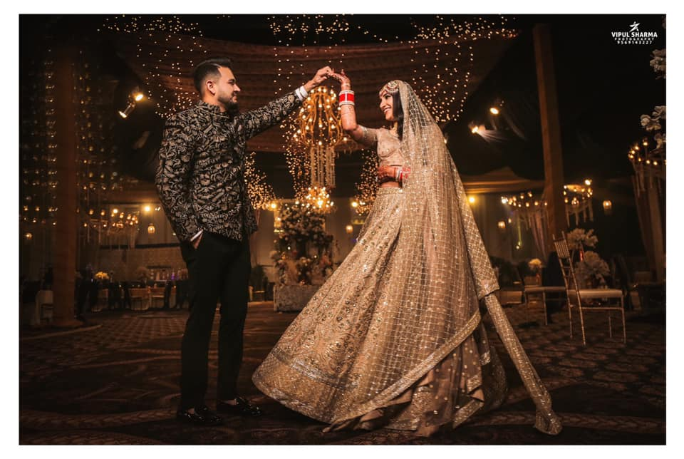 Bride & Groom in Sabyasachi Outfits