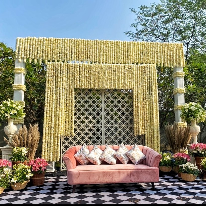 floral seating décor