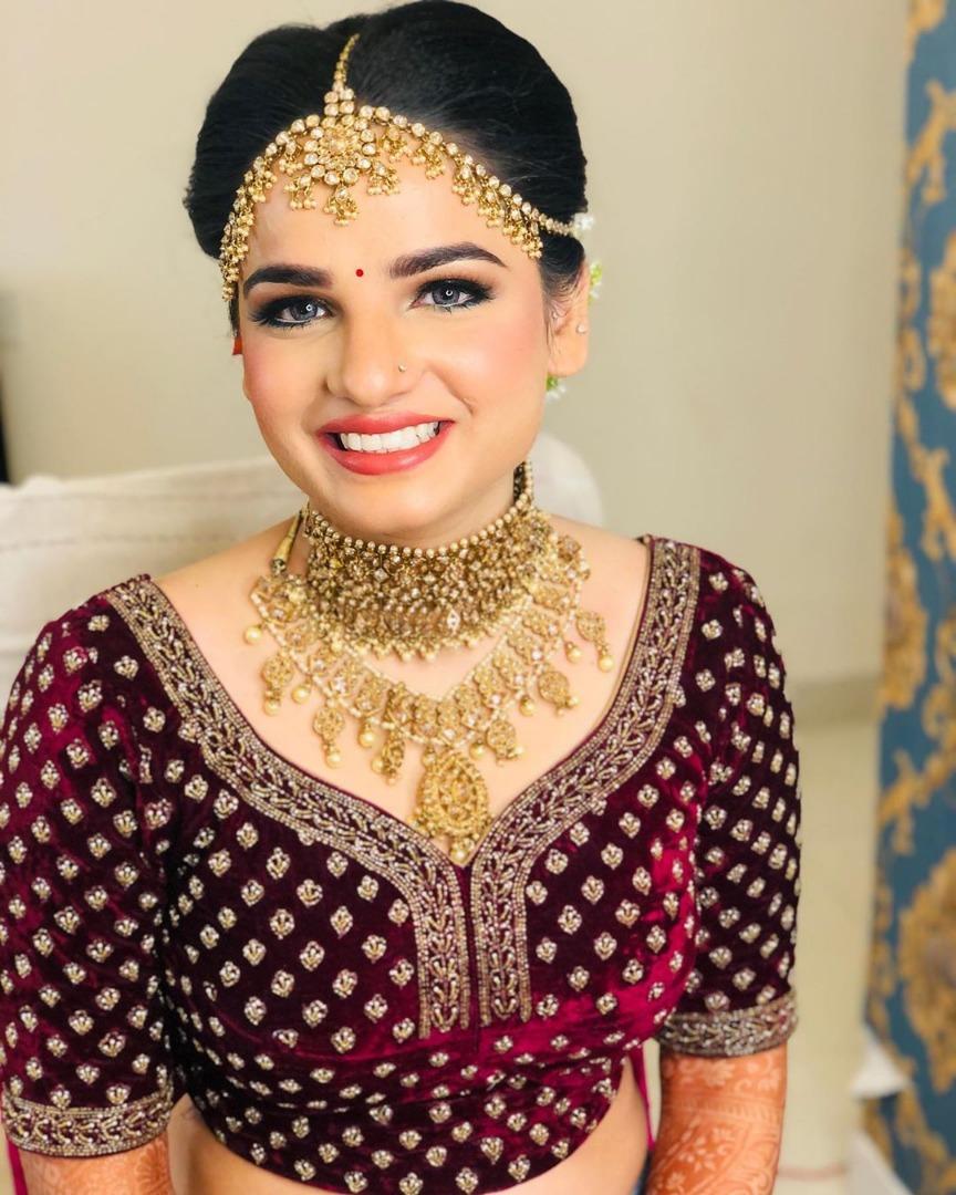 Airbrush Makeup for Royal Indian Bride