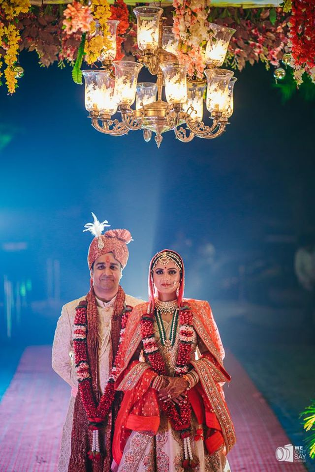 Indian Wedding Bride & Groom Portrait Picture
