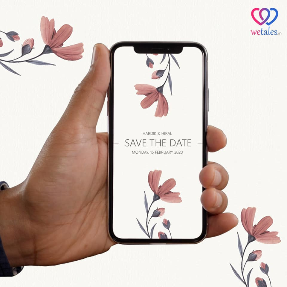 save the date in minimal design