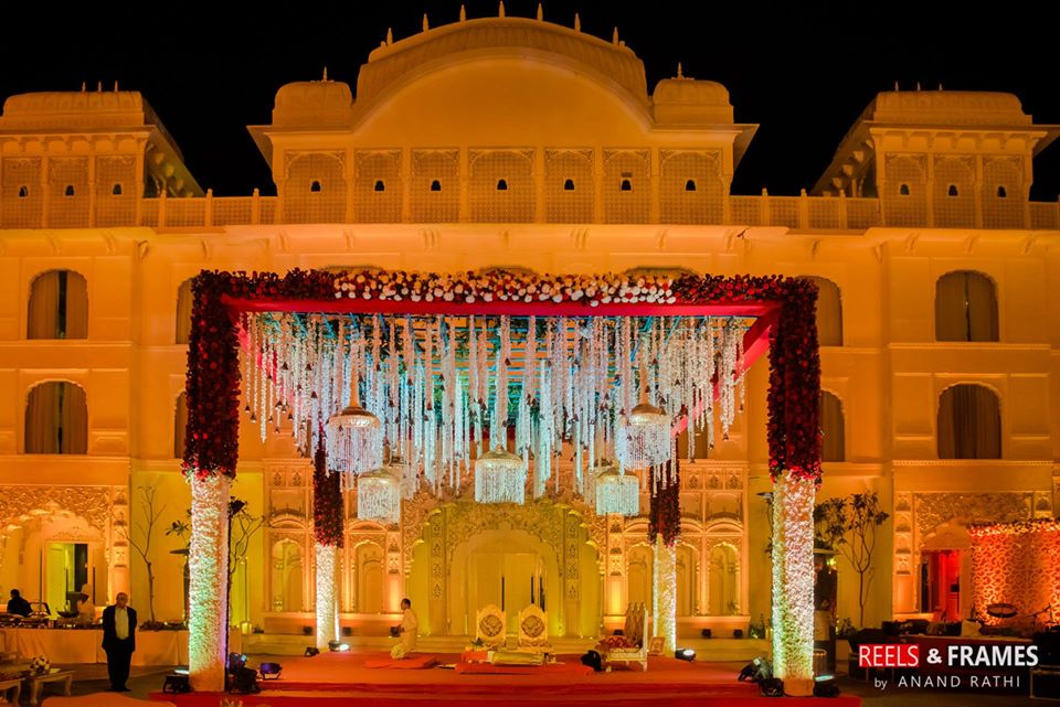 Traditional Royal Wedding Palace Mandap Decor