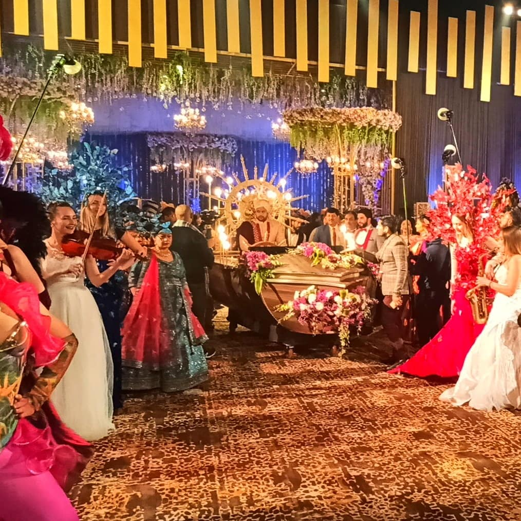 groom entering with performers