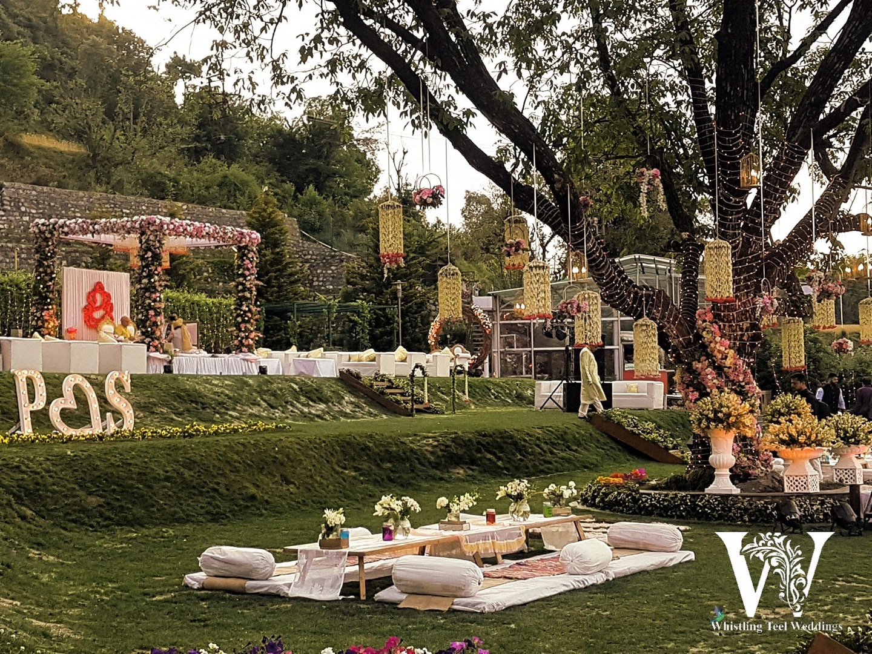 Beautiful outdoor wedding decoration