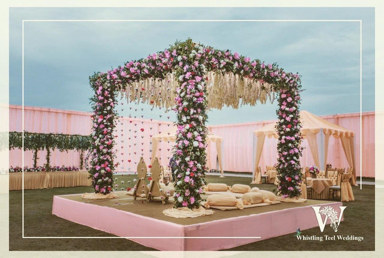 Beautiful Floral Arrangement of the Mandap
