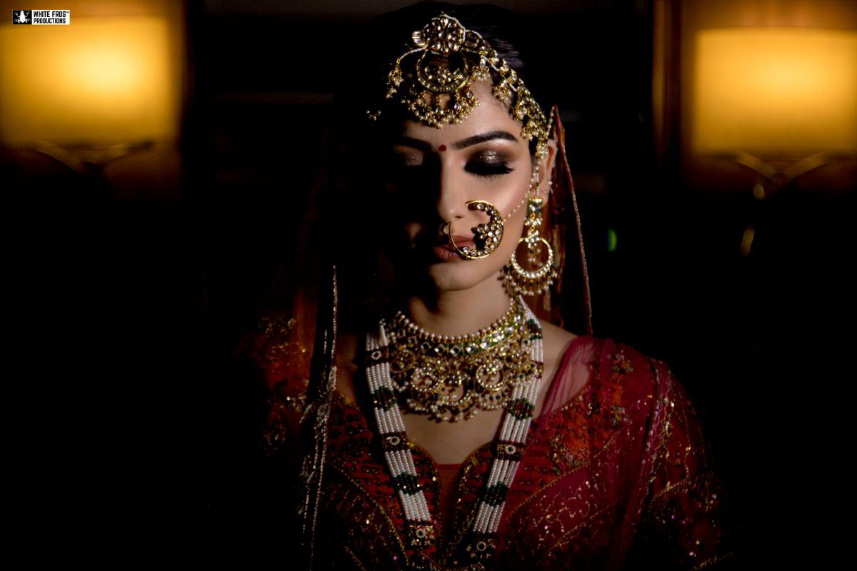 A Beautiful Indian Bridal Solo Portrait Picture